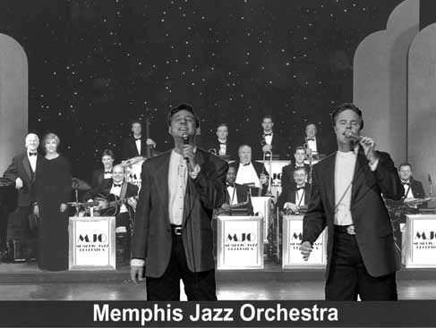 Hudson & Saleeby singing with the Memphis Jazz Orchestra