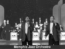 Hudson & Saleeby with the Big Band, the Memphis Jazz Orchestra
